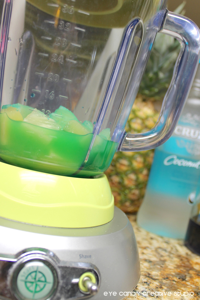 blender, ice, pineapple, summer drink recipe, tropical drink recipe