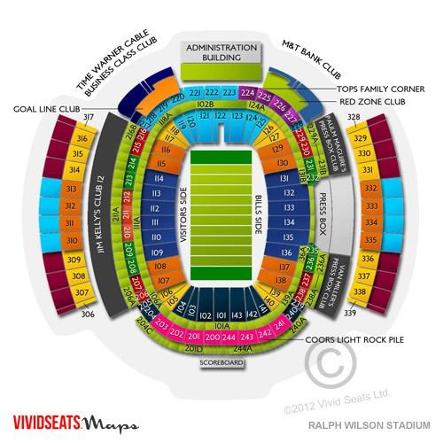 Stadium Maps Buffalo Bills - ralph wilson stadium seating