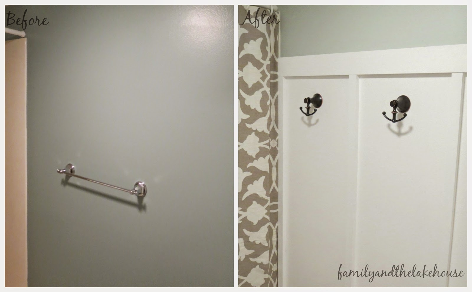 Family and the Lake House - Guest Bathroom - Before and After