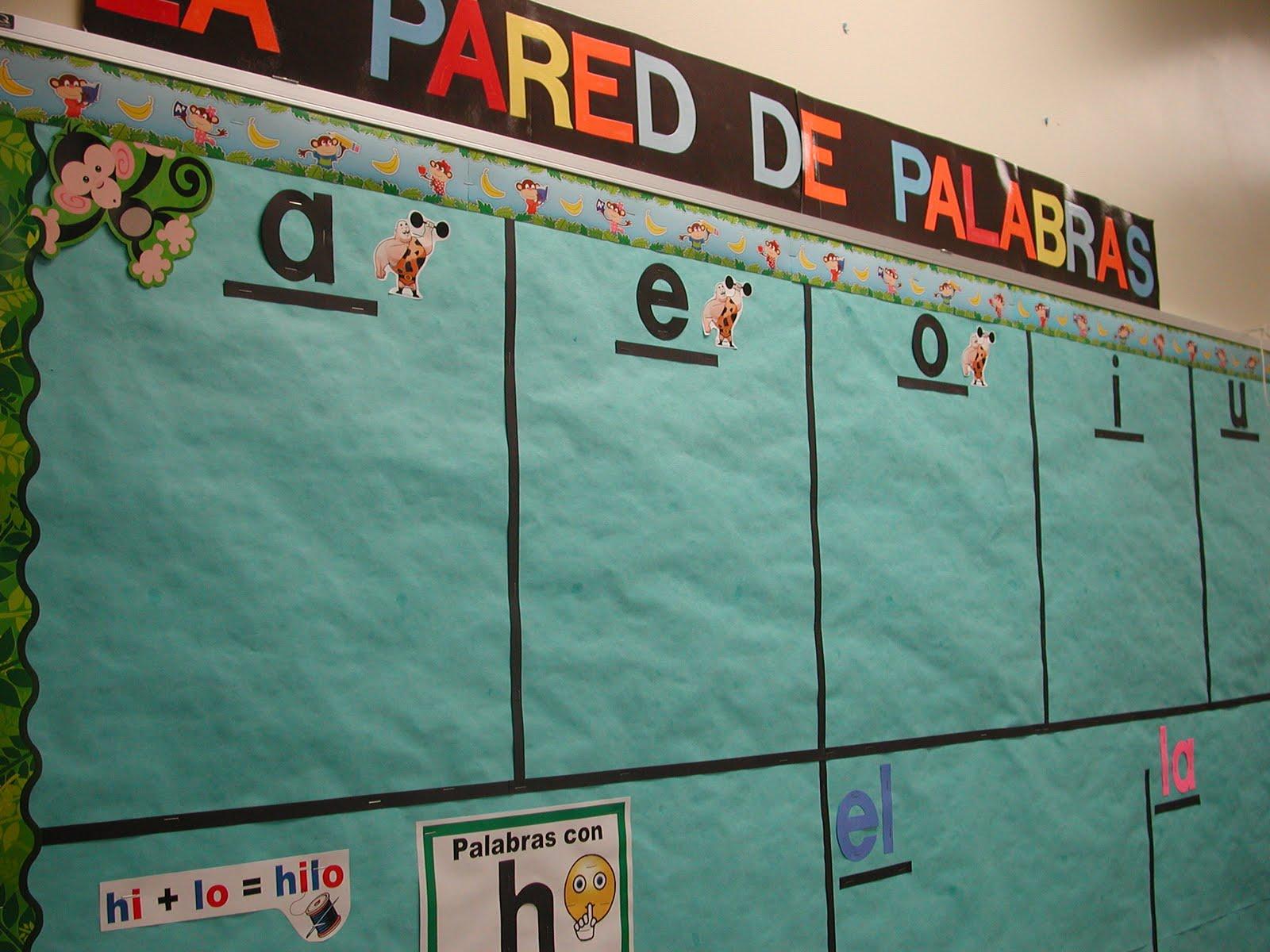 Dual Language Diva La Pared De Palabras The Spanish Word Wall