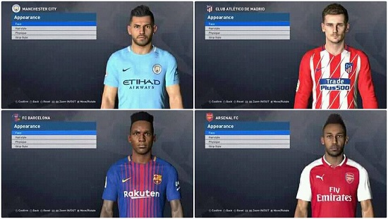 PES 2017 New Facepack Released With 4 Faces 2018 By Ben Hossam Facemaker
