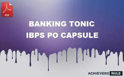 Banking Tonic - IBPS PO PDF Capsule 2017