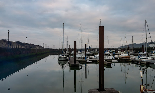 Photo of calm conditions in Maryport Marina before we left on Sunday morning