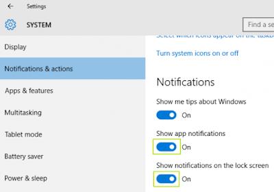 System pada pengaturan Windows 10