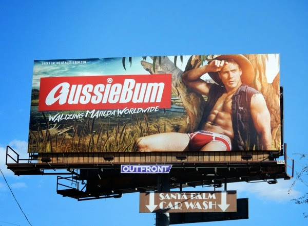 AussieBum mens underwear billboard