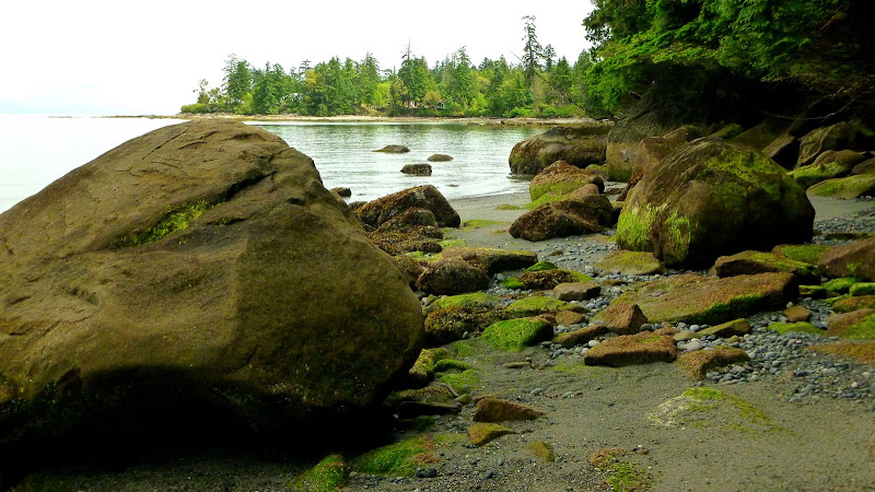 The south end of Sandwell Beach is rocky (2013-06-01)