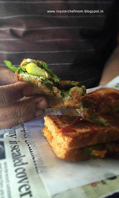 Bombay Style Masala Toast