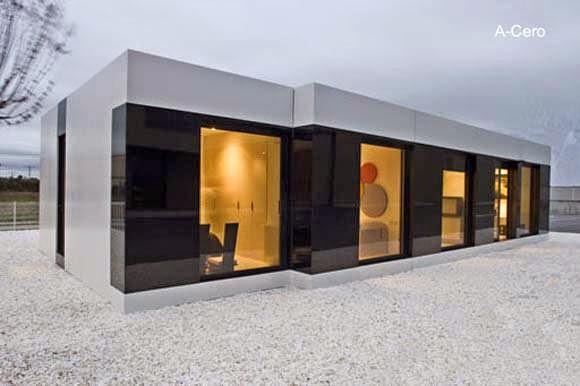 Modelo de vivienda compacta prefabricada modular de A-cero España