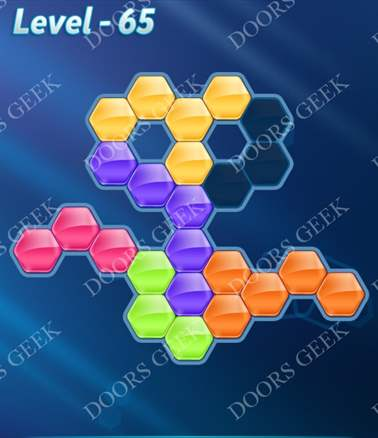 Block! Hexa Puzzle [6 Mania] Level 65 Solution, Cheats, Walkthrough for android, iphone, ipad, ipod