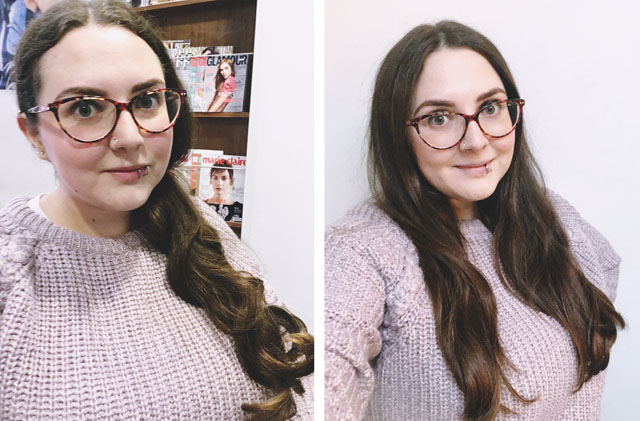 Rush Hair Reading cut and blowdry before and after