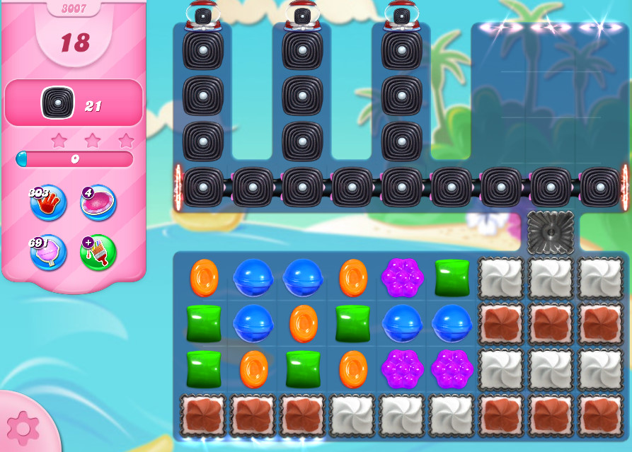 Candy Crush Saga level 3007