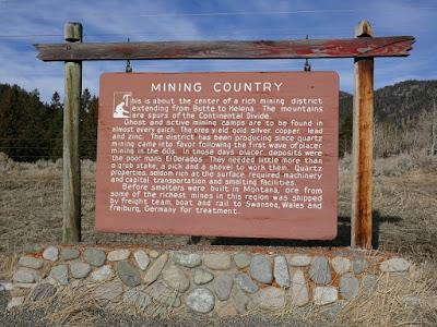 Basin, Montana, mining, smelter, historical, sign