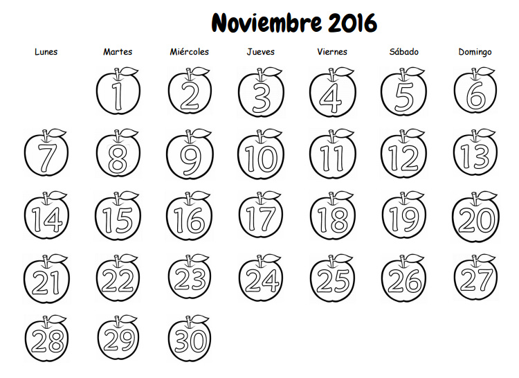 Dibujos Para Colorear 20 Noviembre Preescolar: Recursos Para El Aula De Lengua: Calendario Escolar Para