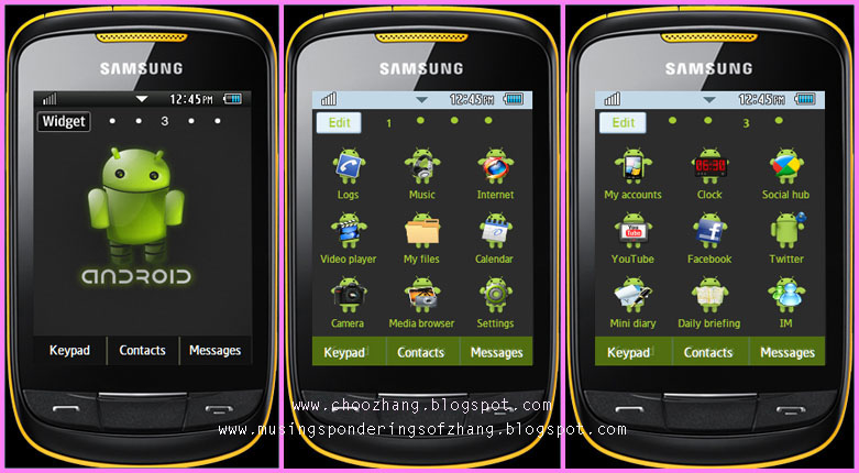 samsung corby 2 android themes free download