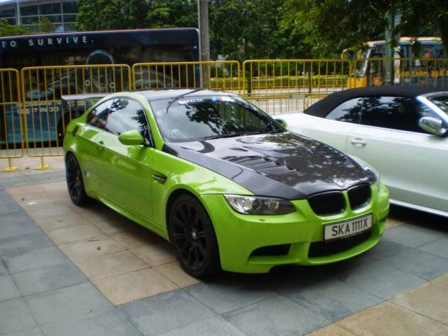 Foto Modifikasi Mobil BMW M3 Green