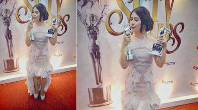 prilly Ngetop versi SCTV Awards 2015
