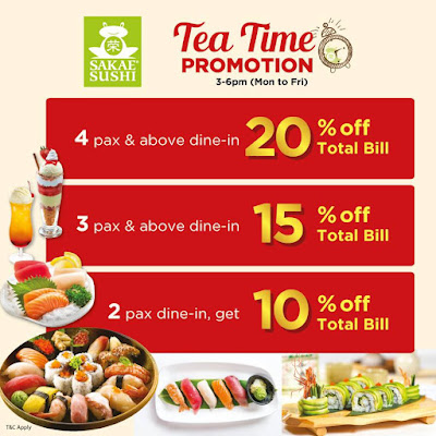 Sakae Sushi Malaysia Tea Time Discount Offer Promo
