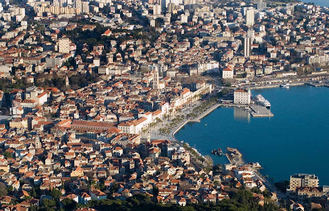 Imagem aérea Split – Croácia