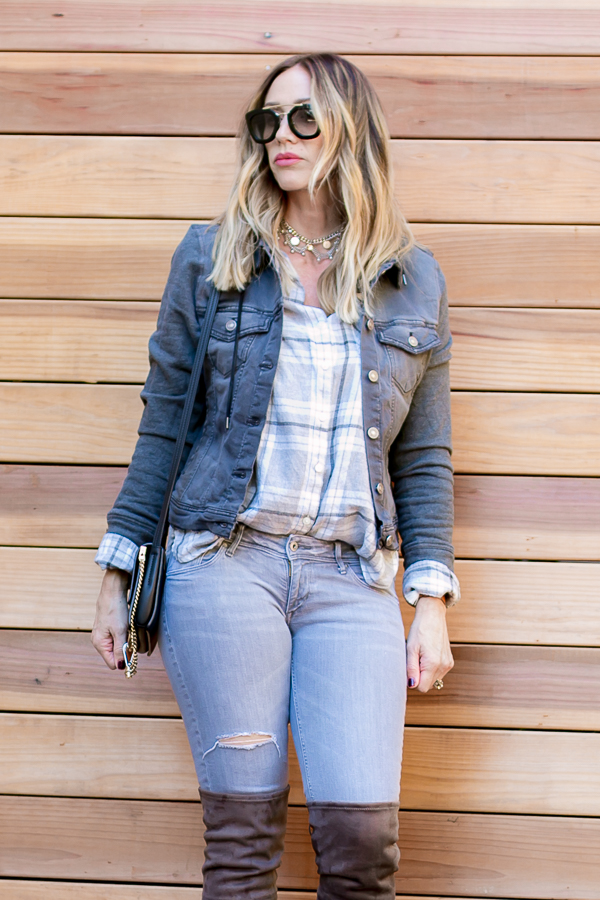 grey monochromatic fashion