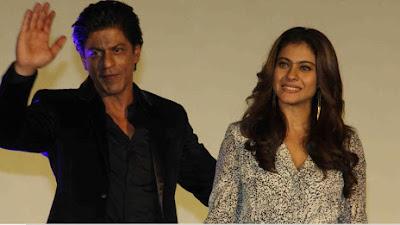 शाहरुख और काजोल फ़िल्म 'दिलवाले' के एक गाने के लॉन्च के मौके पर।
