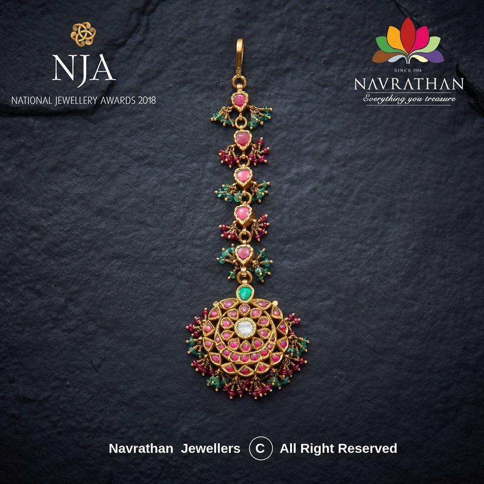 Kundan Maang Tikkas By Navrathan Jewellers Jewellery Designs