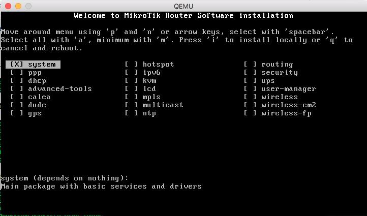 goletcoin: Install Mikrotik on GNS3 (MAC OS Sierra)