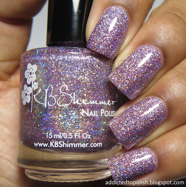 kbshimmer things that make you go bloom spring 2016 mega flame purple holo glitter