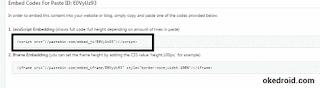 javascript embedding