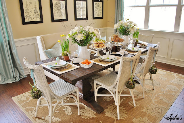 Spring Easter Dining Room