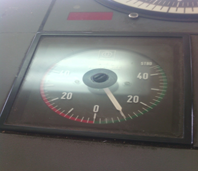 Patra Tanker 3 Rudder Table Indicator