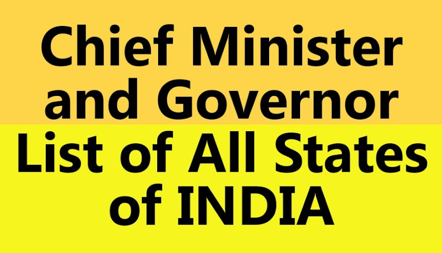 Here is the list of all Chief Ministers and Governors of all Indian States. Last Update: January 01, 2017.. pdf download, free gk,