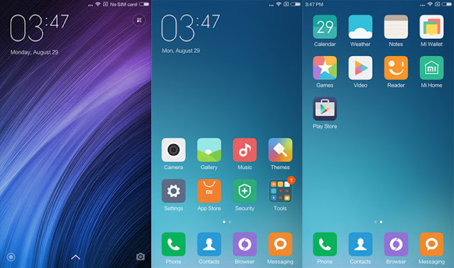 Review Xiaomi Redmi Note 4, Software User interface MIUI Xiomi Redmi Note 4