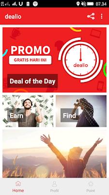 cara mendapatkan pulsa gratis dari aplikasi dealio android