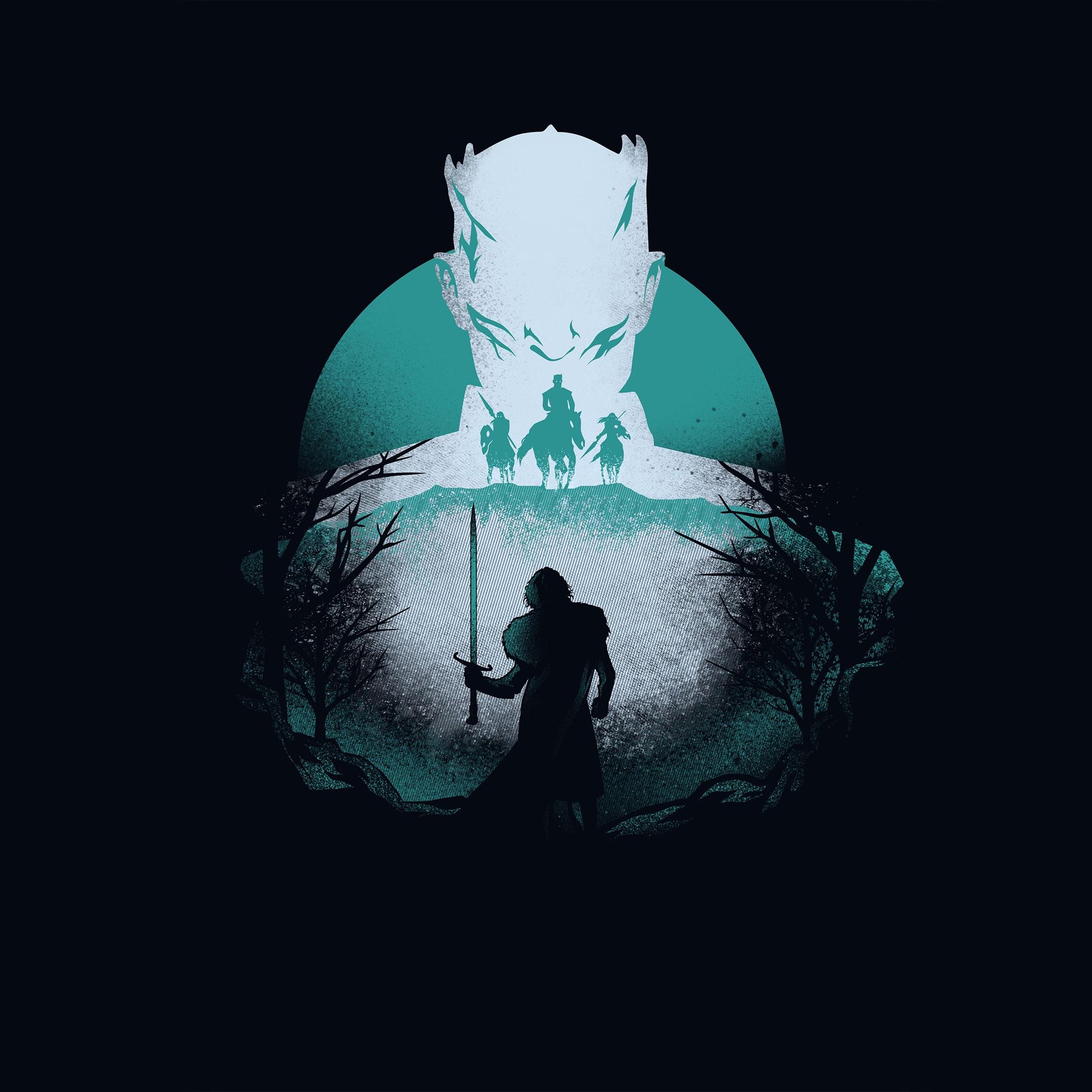 Night King, Jon Snow, Minimalist, Game Of Thrones, 4K, #52