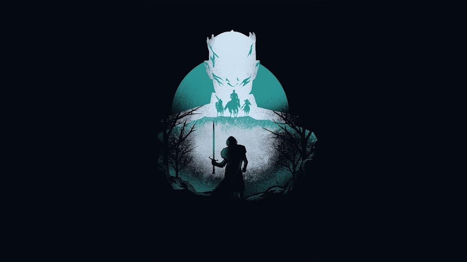 Night King Jon Snow Minimalist Game Of Thrones 4k Wallpaper 52