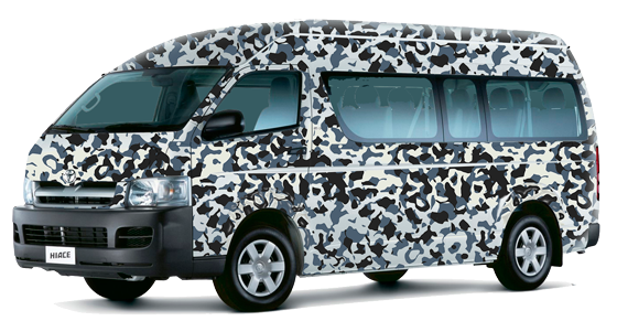 Branding Toyota HIACE for Army