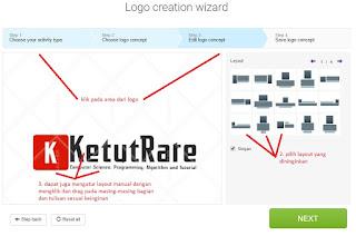 merubah layout logo