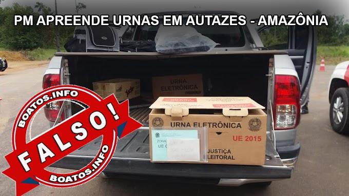 Urnas eletrônicas são apreendidas em Autazes - Amazonas - #FAKE