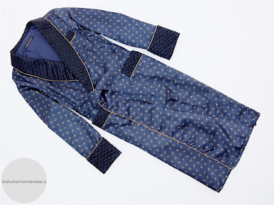 mens quilted silk dressing gown paisley dark navy blue extra long english smoking jacket robe