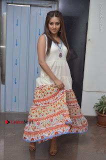 Telugu Actress Anu Emmanuel New Stills in Beautiful White Long Dress  0078.JPG