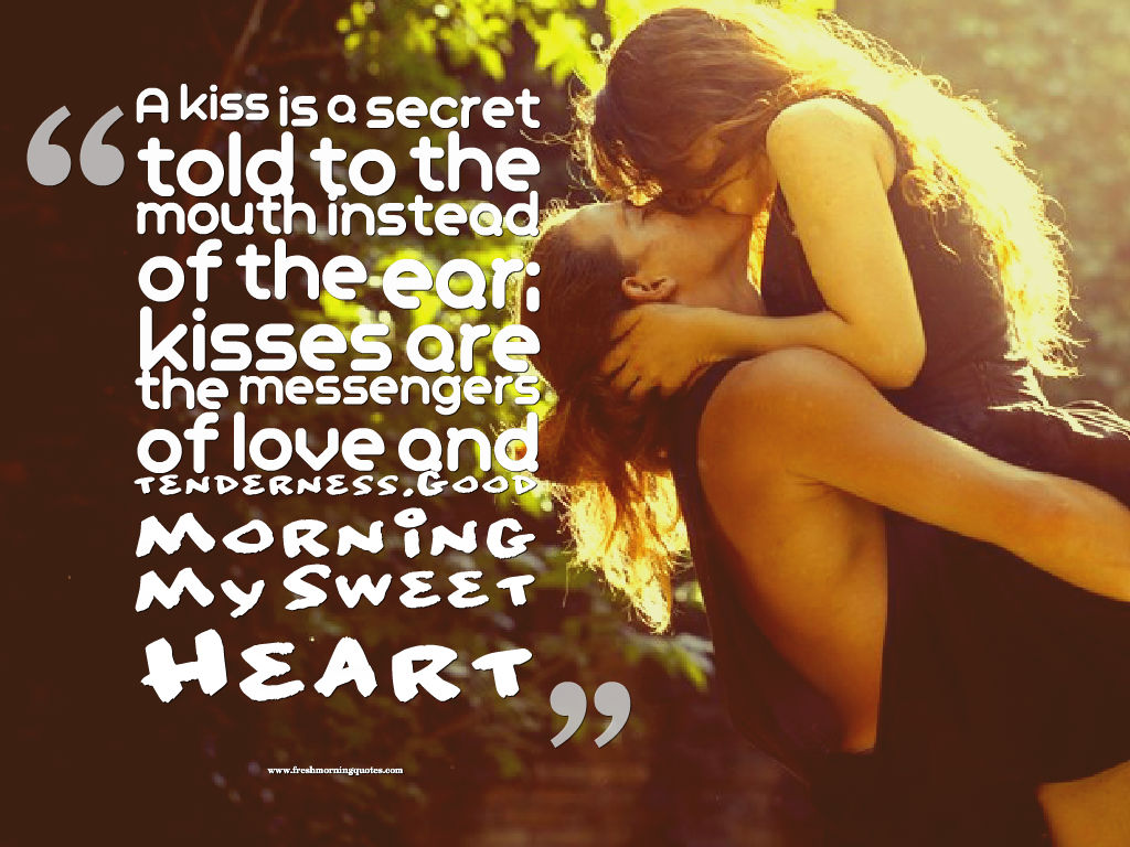 a kiss is a secret-good morning romantic kiss images quotes