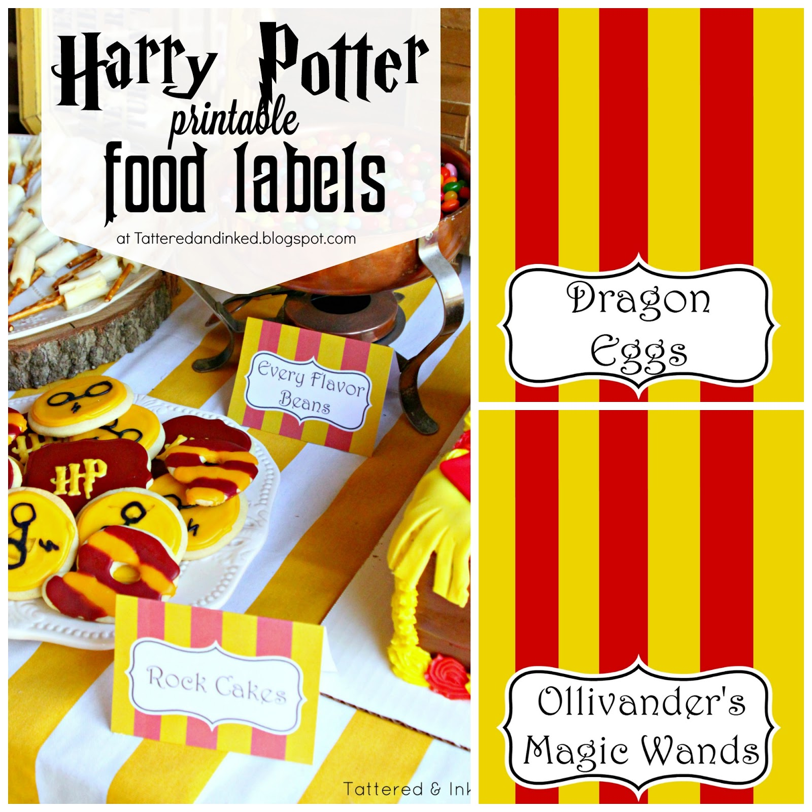 Tattered And Inked: Harry Potter Party FREE Printables And
