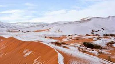 Neve cobre parte do Saara