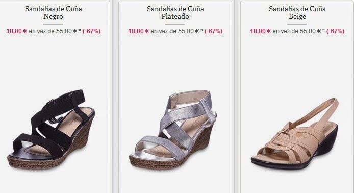 Sandalias de cuña por sólo 18 euros