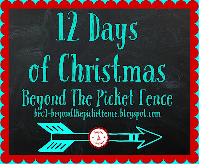 12 days of Christmas, christmas ideas, http://bec4-beyondthepicketfence.blogspot.com/2015/11/12-days-of-christmas-day-4-garland.html