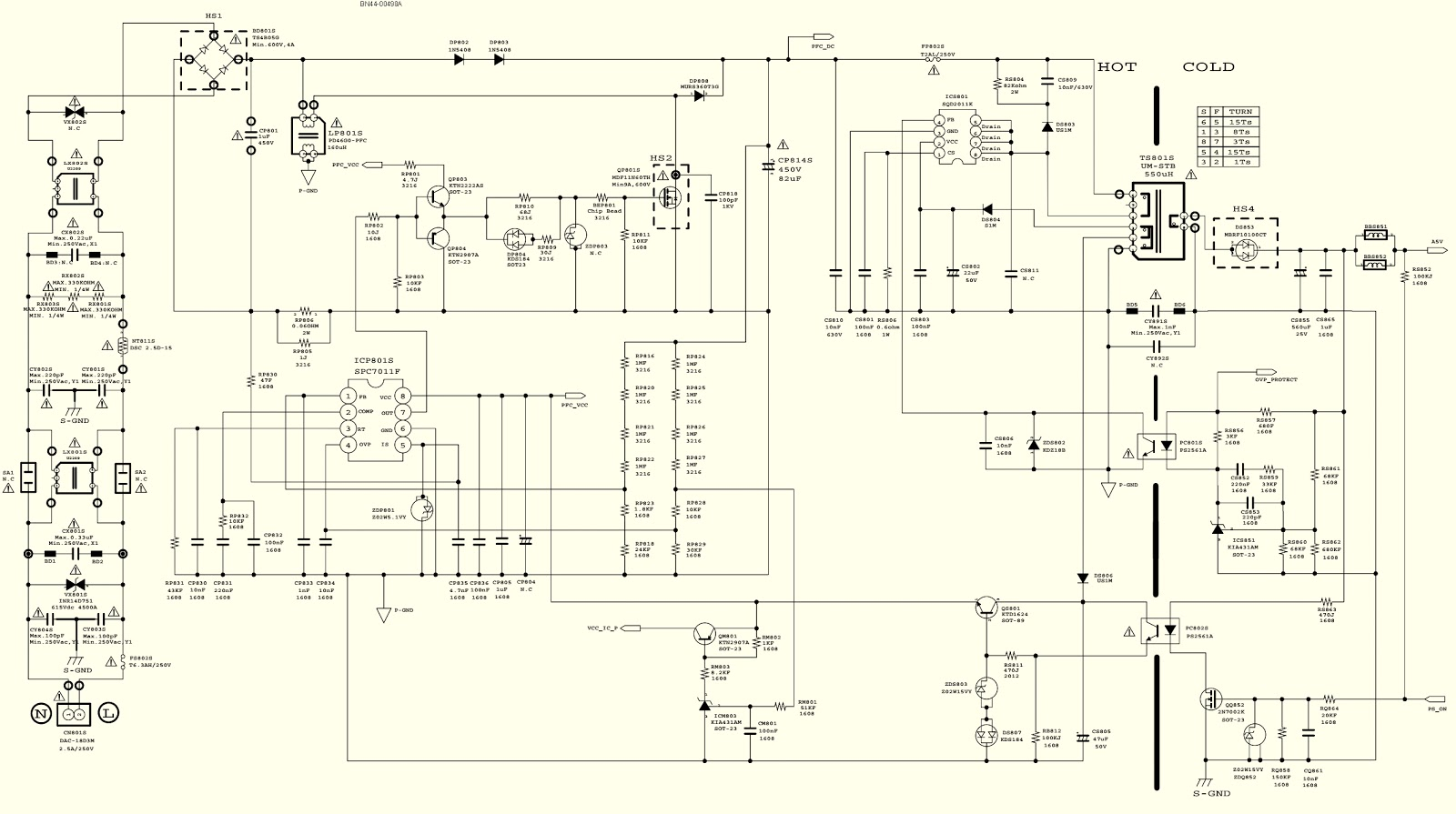 small resolution of samsung led lcd tv un46eh6000f power supply led board bn44 00498a led circuit diagram samsung