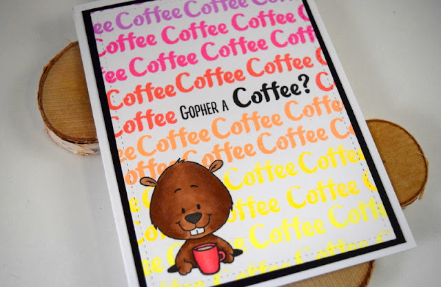 Coffee Card by Jess Gerstner for Gerda Steiner Designs