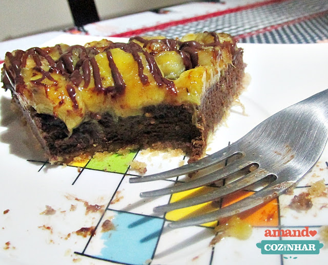 cheesecake de banana e chocolate