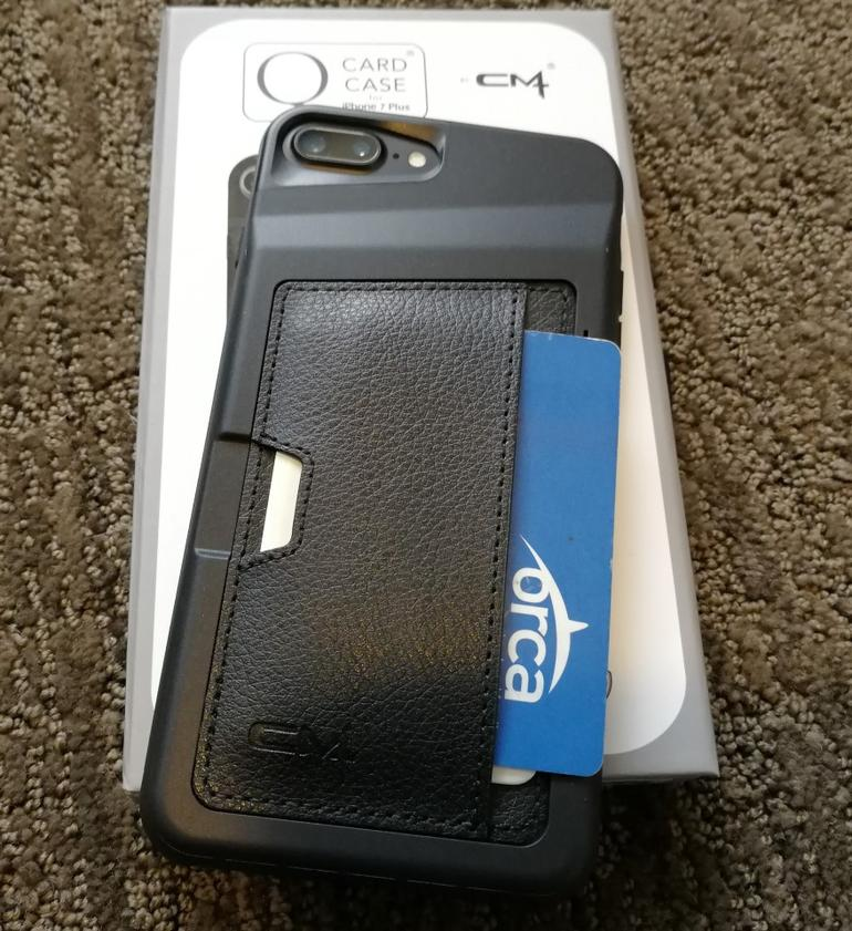 CM4 Q Card Case for the Apple iPhone 7 Plus: Protective wallet case with kickstand option