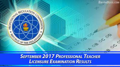 Teacher (LET) September 2017 Board Exam